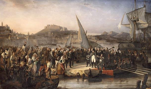 Прибытие Напалеона Бонапарта на остров Эльба