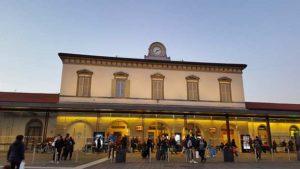 Ж\д вокзал в Бергамо (Италия)