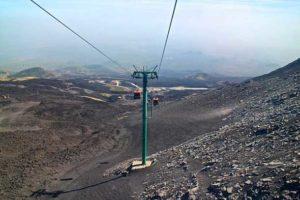 Фуникулер для подъема на вулкан Этна