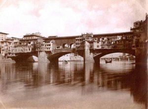 Ponte Vecchio в 1345 году во Флоренции