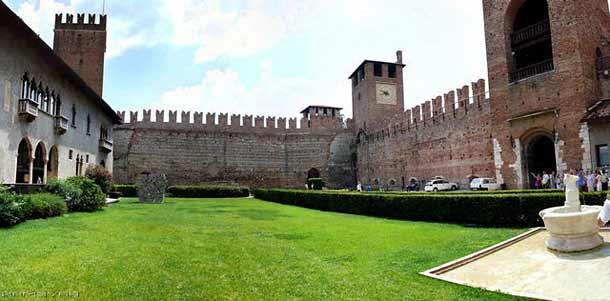 Старый замок Кастельвеккьо в Вероне