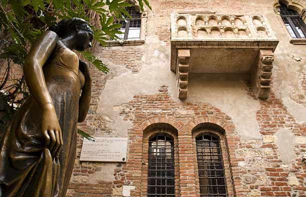 Статуя Джульетты и балкон
