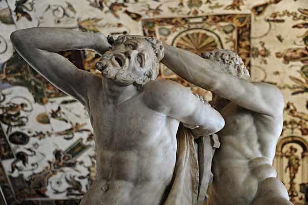Скульптура Геракл и Кентавр в Уффици