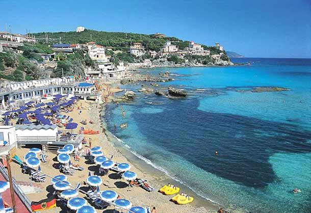 Курорт в Литворно (Тоскана) пляж Кастильончелло