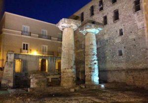 Развалины Храма Посейдона в Таранто