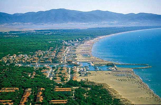 Пляж Марино-ди-Гроссето в Тоскане