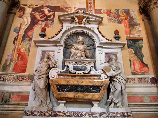 Гробница ученого Галилео Галилей в Санта Кроче