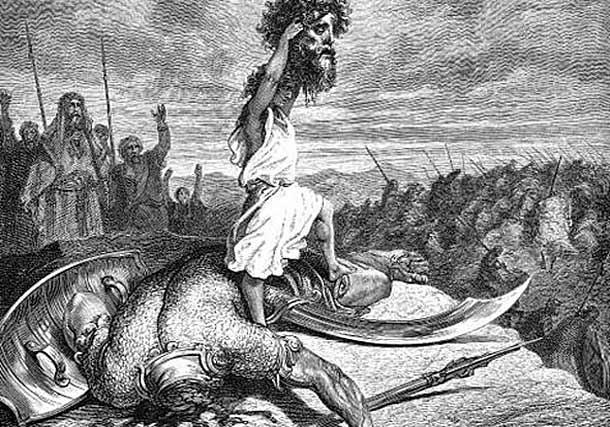 Давид после битвы, держащий голову поверженного Голиафа