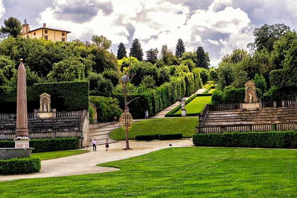 Сады Боболи во дворце Питти
