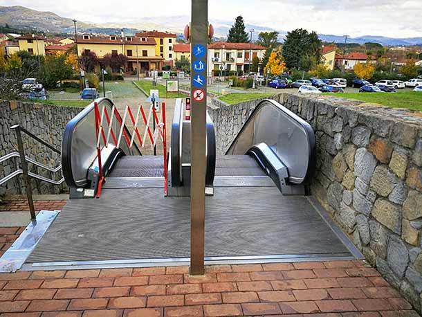 Эскалаторы в городе Сиена