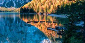 Озеро Lago di Braies (Италия)