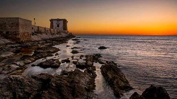 Башня Торре ди Линьи в Трапани (Сицилия)