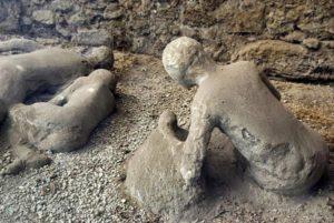 Человеческие останки после везувия в Помпеи
