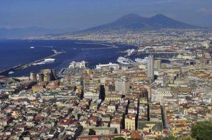 Вид на везувий в Неаполе