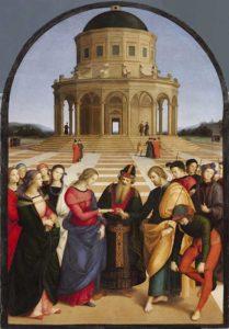 Обручение Девы Марии» Рафаэля (16век)