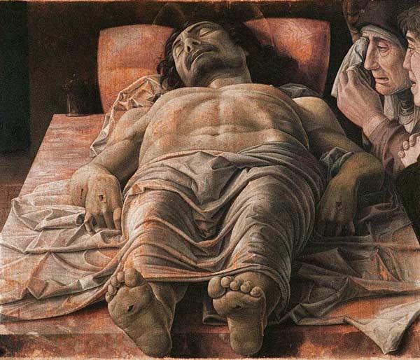 Картина Мертвый Христос - Андреа Мантеньи (15 век)
