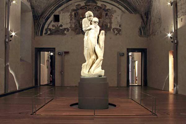 Не законченная скульптура Пьета Ронданини