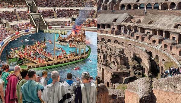 Морские сражения в Колизее