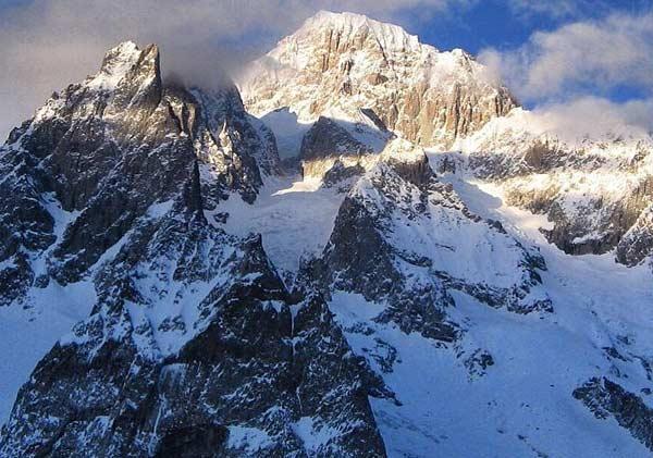 Гора Монблан в Альпах
