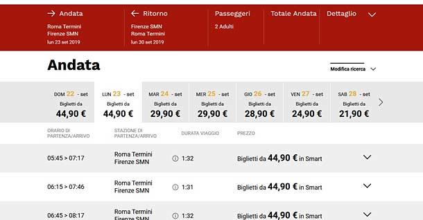 Поезд из Рима во Флоренцию