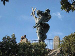 Гора Ортобене со статуей Христа