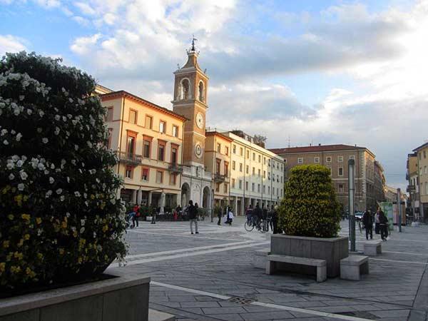 Город Римини в феврале