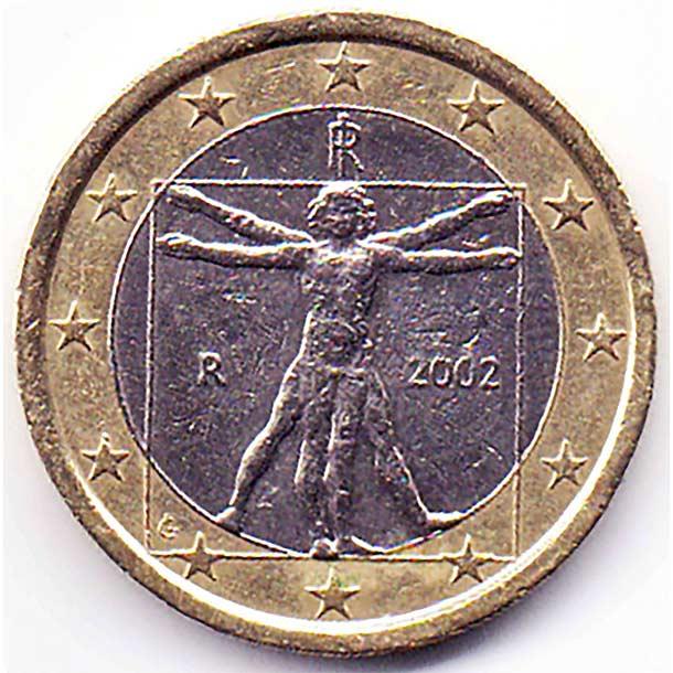 Монета в один евро