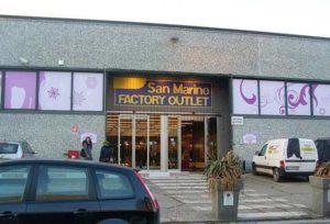 San Marino Factory. Аутлет
